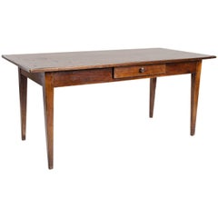 19th Century Antique English Cherrywood Writing Table or Desk