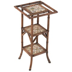 19th Century Antique English Jackson Bros Tile Bamboo Étagère Stand