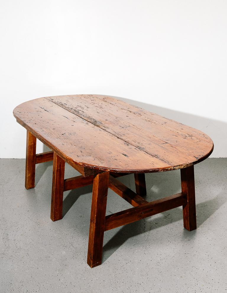 19th Century Antique Farmhouse Dining Table In Fair Condition For Sale In Brooklyn, NY