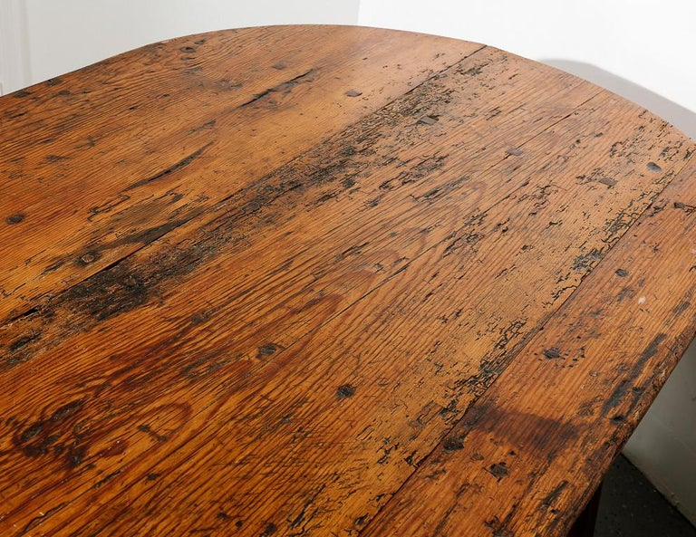 19th Century Antique Farmhouse Dining Table For Sale 2