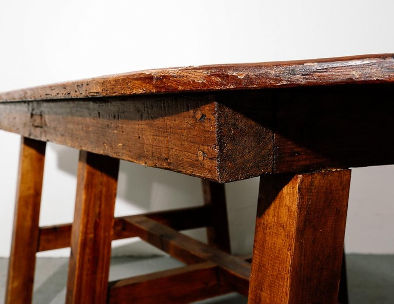 19th Century Antique Farmhouse Dining Table For Sale 4