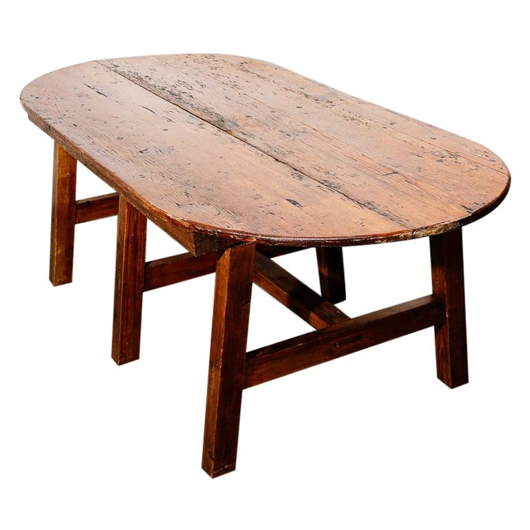 19th Century Antique Farmhouse Dining Table For Sale