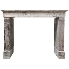 19th Century Antique Fireplace of French Limestone