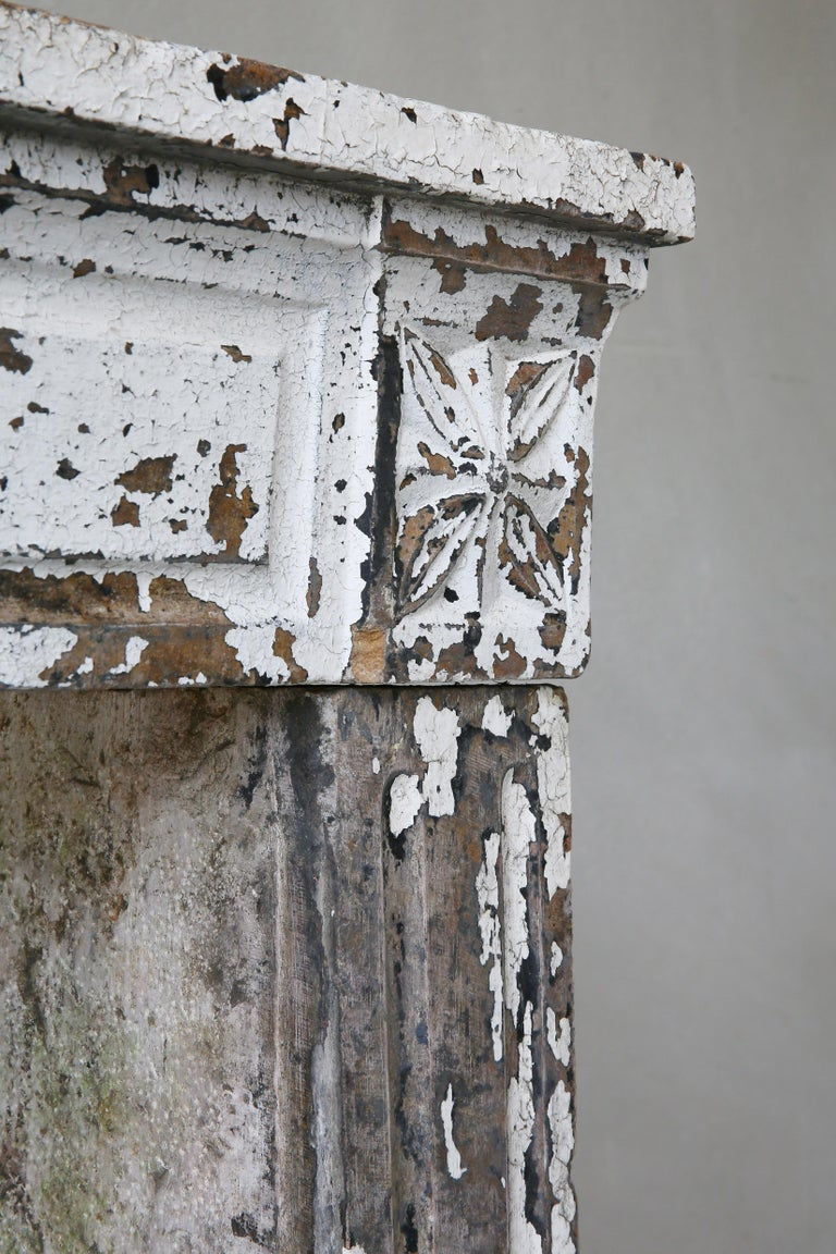 Other 19th Century Antique Fireplace of French Limestone in Style of Louis XVI For Sale