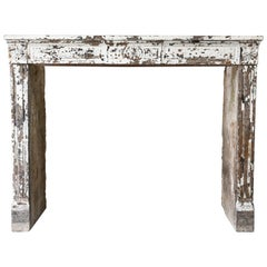 19th Century Antique Fireplace of French Limestone in Style of Louis XVI