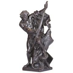 19th Century Antique French Bronze Sculpture Of Ulysses After Jacques Bousseau