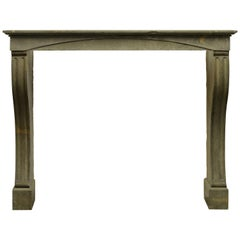 19th Century Antique French Limestone Fireplace Mantel