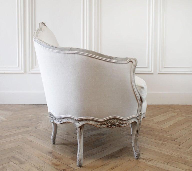 Walnut 19th Century Antique French Louis XV Style Sofa