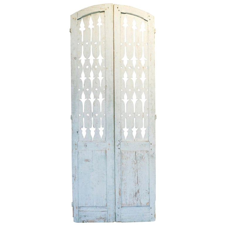 19th Century Antique French Shutter Doors For Sale