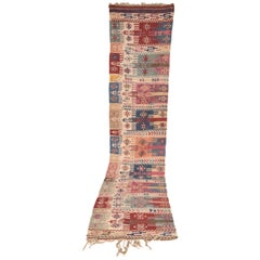 19th Century Antique Gallery Turkish Kilim Carpet