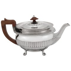 19th Century Antique George III Sterling Silver Teapot, 1809