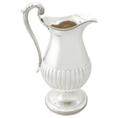 19th Century Antique George IV 1815 Sterling Silver Wine Ewer or Flagon