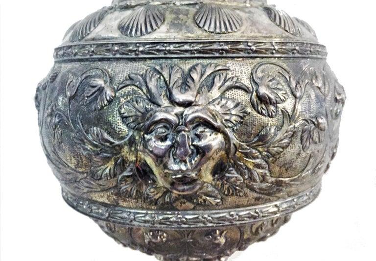Antique German Neo-Baroque Silver Wine Jug, 19th Century For Sale 5