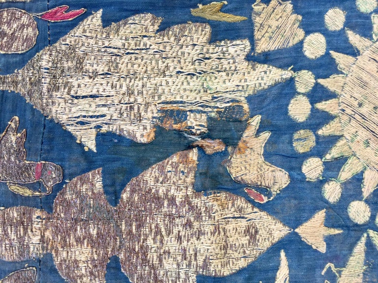 19th Century Moorish Islamic Ottoman Empire Textile Metallic Embroidered In Distressed Condition For Sale In North Hollywood, CA