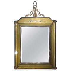 19th Century Italian Liberty Style Metal and Glass Facet Mirror Circa 1890