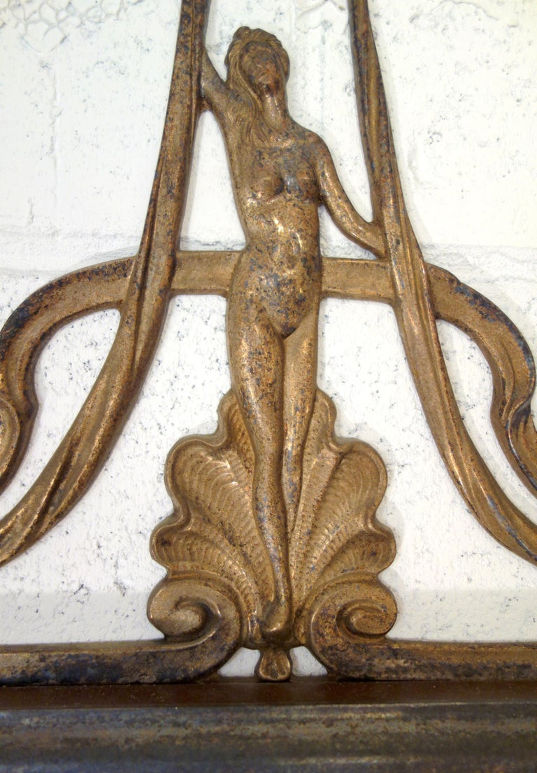 19th Century Italian Liberty Style Metal and Glass Facet Mirror Circa 1890 For Sale 3