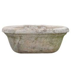 19th Century Antique Italian Marble Tub or Basin