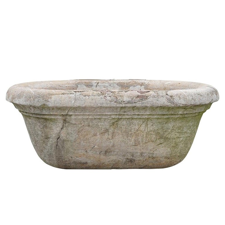 19th Century Antique Italian Marble Tub or Basin For Sale