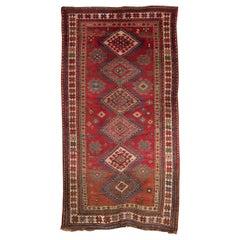 19th Century Antique Kazak Rug Carpet