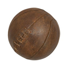 19th Century Antique Leather Basketball or Netball.