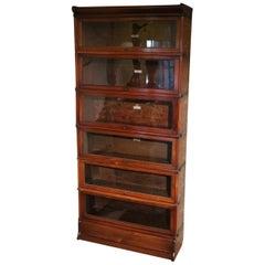 19th Century Antique Mahogany Globe Wernicke Bookcase