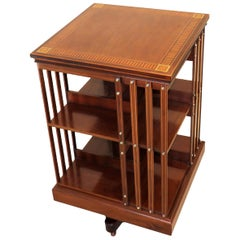 19th Century Antique Mahogany Revolving Bookcase