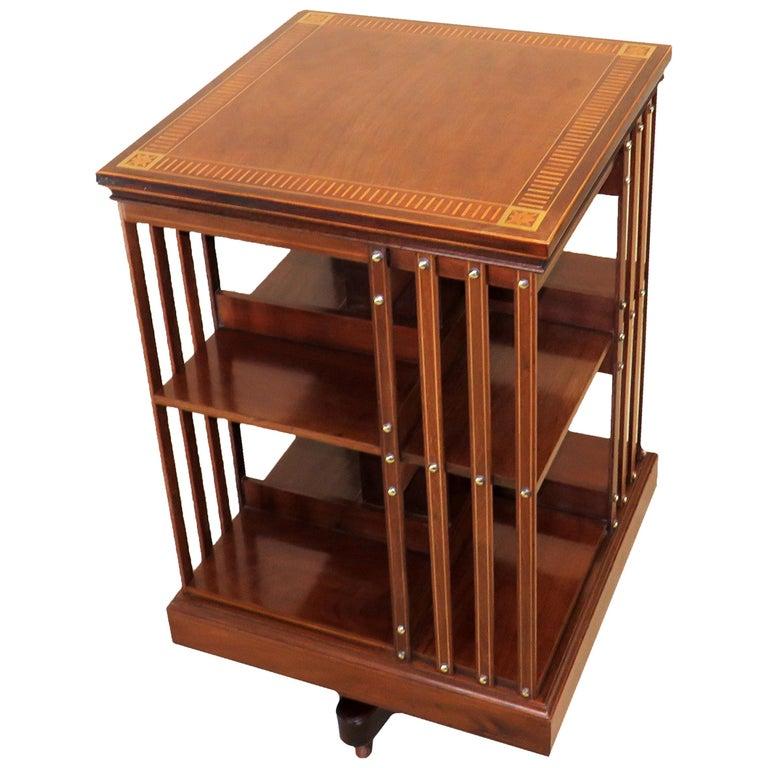 19th Century Antique Mahogany Revolving Bookcase
