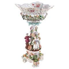 19th Century Antique Maissen Style Pedestal Compote