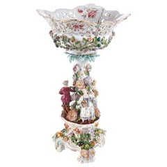 19th Century Antique Meissen Style Pedestal Compote