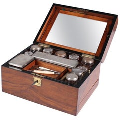 19th Century Antique Necessaire de Voyage, Travel Box, Walnut, France circa 1870