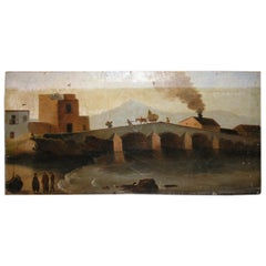 19th Century Antique Oil Painting on Canvas