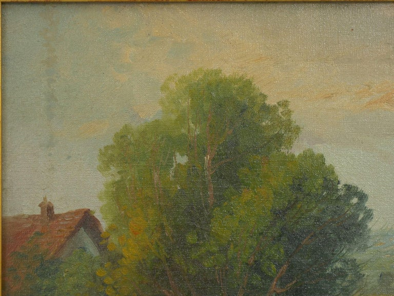 19th Century Antique Pastoral Landscape Painting of Sheep by Jan Pietras In Good Condition For Sale In Shippensburg, PA