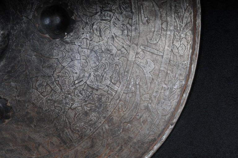 Iron 19th Century Antique Persian Battle Shield For Sale
