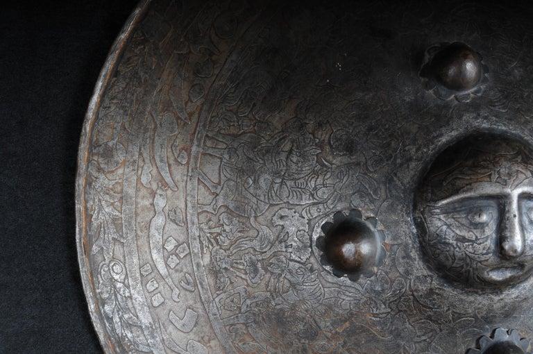 19th Century Antique Persian Battle Shield For Sale 2