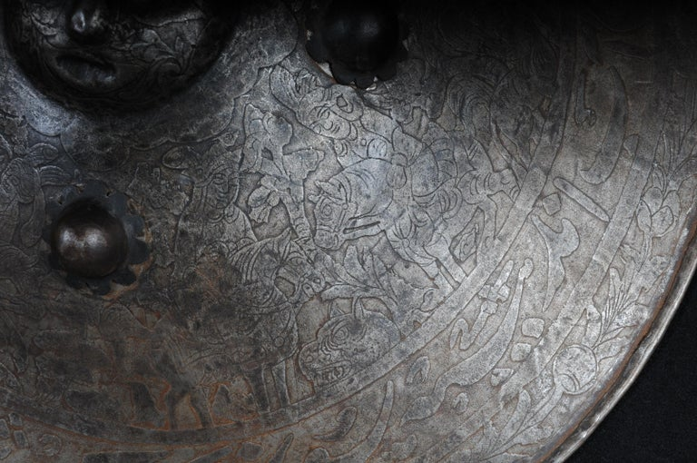 19th Century Antique Persian Battle Shield For Sale 5