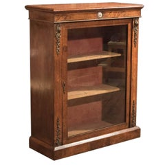 19th Century Antique Pier Cabinet, French Walnut, circa 1880