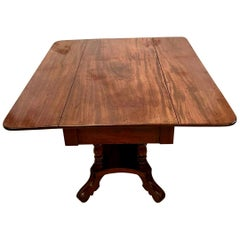19th Century Antique Regency Mahogany Drop Leaf Centre Table