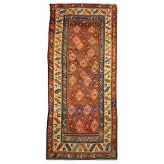 19th Century Antique Runner Caucasian Rug, circa 1880