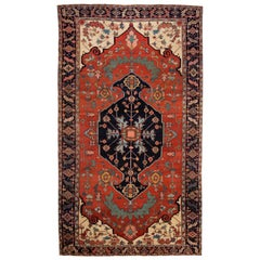 19th Century Antique Serapi Wool Rug