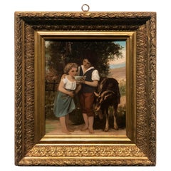 19th Century Antique Signed French Painting