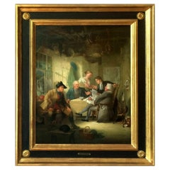 19th Century Antique Signed Painting H. P. Parker