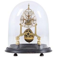 19th Century Antique Skeleton Clock, England, circa 1850