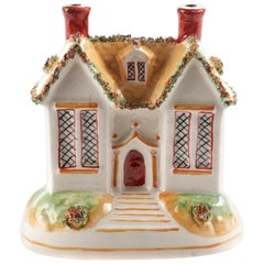 19th Century Antique Staffordshire Cottage