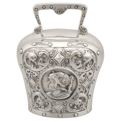 19th Century Antique Sterling Silver Table Bell, 1897