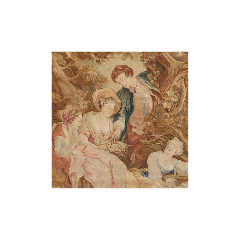 Other 19th Century Antique Tapestry Cartoon by François Boucher For Sale