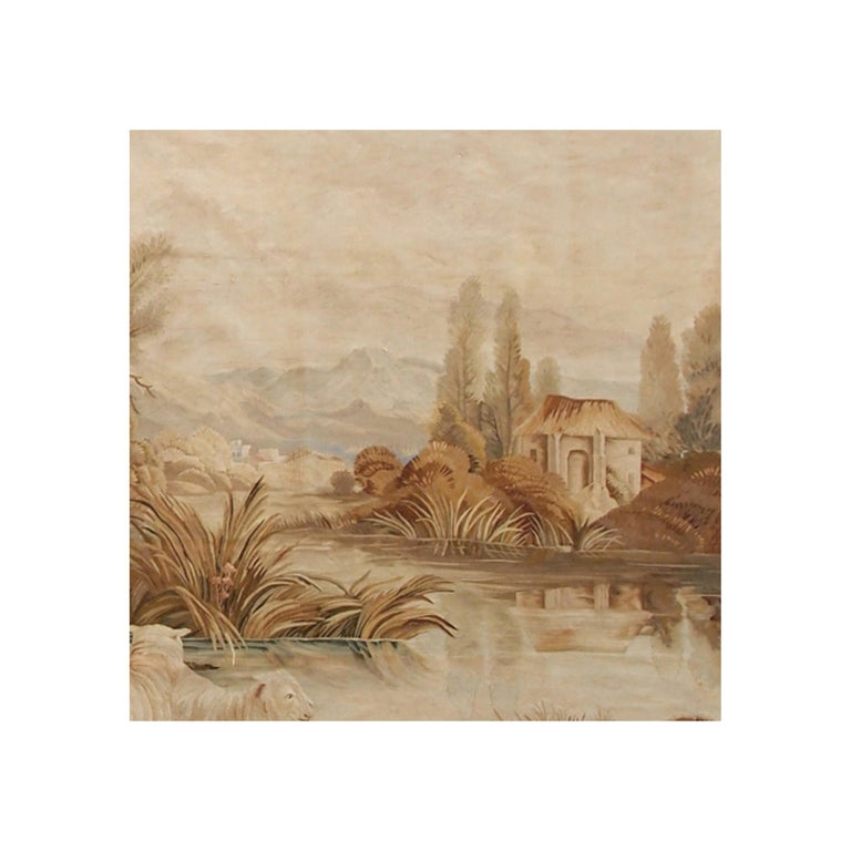 Hand-Woven 19th Century Antique Tapestry Cartoon by François Boucher For Sale