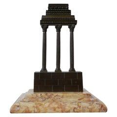 19th Century Antique Tour Model and Marble Grand Tour Model of a Temple