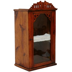 19th Century Antique Traditional Religious Wood and Glass Shrine