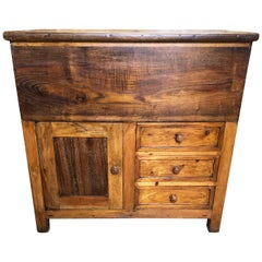 19th Century Antique Tuscan Chestnut Sideboard, Called ''Madia'', Restored