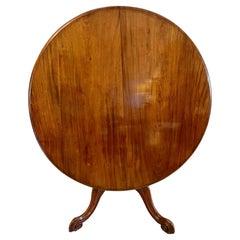19th Century Antique Victorian Mahogany Circular Centre Table